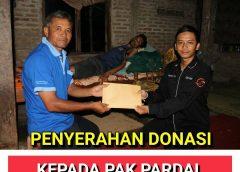 Penyerahan Donasi Kepada Pak Pardal
