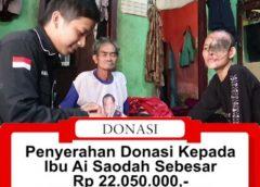 Penyerahan Donasi Kepada Ibu Ai Saodah