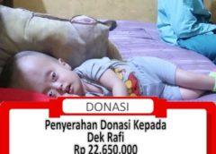 Penyerahan Donasi Kepada Keluarga Dek Raffi