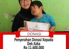 Penyerahan Donasi Kepada Keluarga Dek Azka