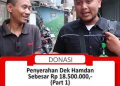 Penyerahan Donasi Kepada Keluarga Dek Hamdan