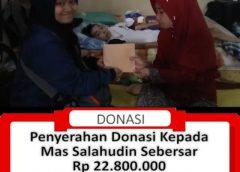 Penyerahan Donasi Kepada Mas Salahudin